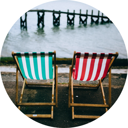 Deckchairs on seafront